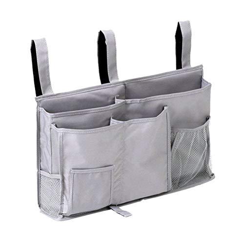 OUNONA Betttaschen Platzsparende Sofa Organizer Fernbedienung Tasche Hängende Aufbewahrungstasche (Grau)