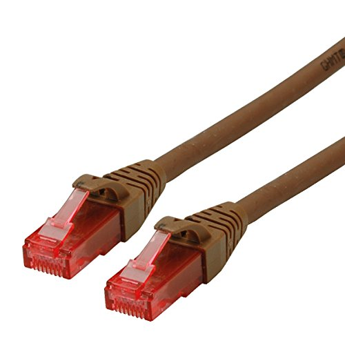 ROLINE UTP LAN Kabel Cat 6 Component Level LSOH| Ethernet Netzwerkkabel mit RJ45 Stecker | braun 5 m