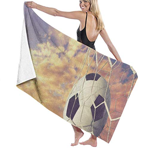 xcvgcxcvasda Serviette de bain, Soccer Ball Field Sky Cloud Personalized Custom Women Men Quick Dry Lightweight Beach & Bath Blanket Great for Beach Trips, Pool, Swimming and Camping 31