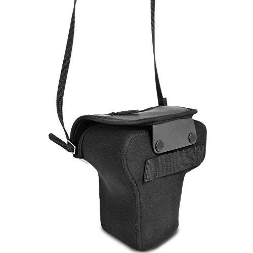 Flexible Neopren DSLR / SLR Kameratasche von USA Gear für Canon EOS 700D , Nikon D5500 , Sony SLT-A58 und mehr digitale SLR-Kameras , Flexsleeve , Schwarz