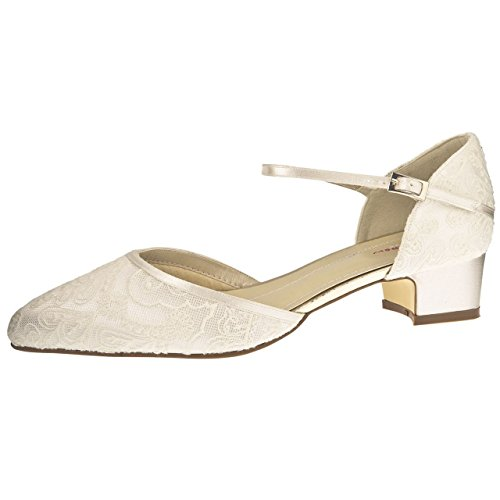 Rainbow Club Brautschuhe Angela Ivory Satin / Vintage Lace (Bliss)