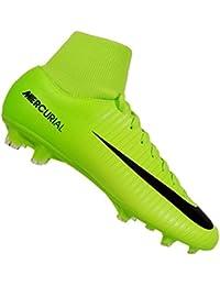 Nike Jr. Mercurial Victory VI Dynamic Fit FG - botas de fútbol (Suelo duro, Niño, Masculino, Verde, Monótono)