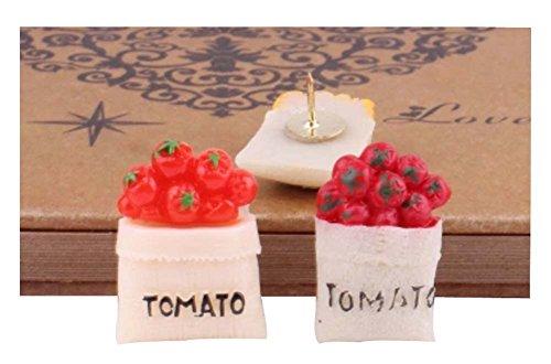 10Pcs Tomate Muster Pushpins Lovely Zeichnung Pin für Schule oder Büro (Pin Tomaten)