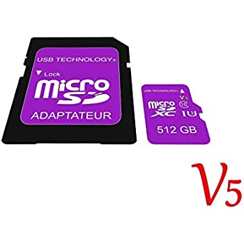 Tarjeta de Memoria Micro SD de 512 GB, V5, ultrarápida, con ...