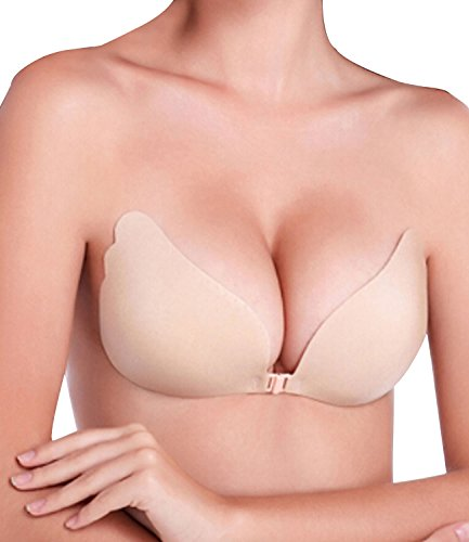 4c3124b7d NINGMI Womens Push Up Strapless Bra with Drawstring Reusable Adhesive  Silicone Backless Bras