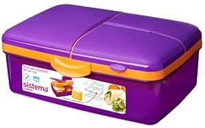 Lunchbox Quaddie lila/orange 2l