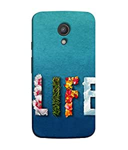 Snapdilla Designer Back Case Cover for Motorola Moto G2 :: Motorola Moto G (2nd Gen) (Background Flowers Creativity Wallpaper)