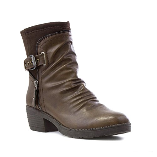 Cushion Walk Womens Ruched Ankle Boot in Brown - Size 6 UK...