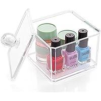 Caja de almacenamiento de plástico acrílico Cosmetic Q-tip, style.1