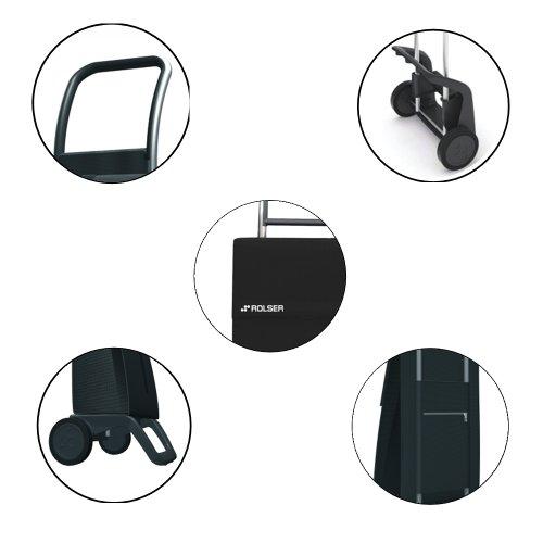 Einkaufstrolley schwarz – Ein Rolser Einkaufsroller schwarz Joy - 4