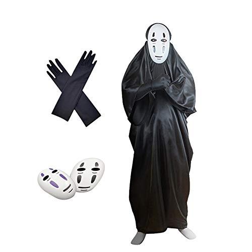 DOXMAL Halloween Kostüm Horror Masken Party Maskerade Grimasse Ärmelmaske Geistermaske Scream weißes Gesicht für Unisex Classic 3 Set (L(166-170))