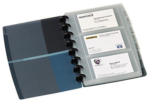 Elba - 100206513 - Proline Variozip Porte-Cartes de Visite à Pochettes Amovibles Capacité 84 Cartes Polypropylène Translucide Imprimé 16x21cm Bleu