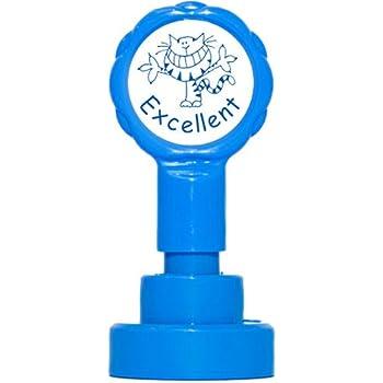 Teacher Stamps BR002CM Tampon Auto-encreur pour Enseignant Excellent Couleur aléatoire