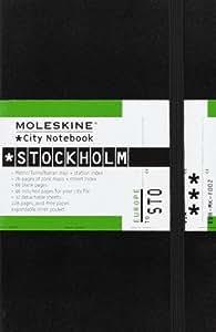 Moleskine City Notebook Stockholm, Pocket, Hardcover, schwarz