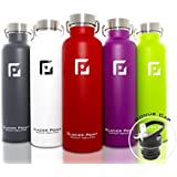 Green : Glacier Point Vacuum Insulated Stainless Steel Water Bottle ( 25 OZ ). Double Walled Construction. Powder Coating. Zero Condensation!