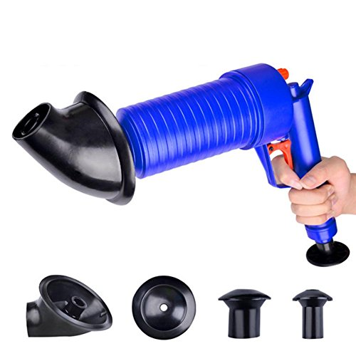 Lophome Reinigungspumpe Hochdruck Waschbecken Kolben Luftablass Blaster Pumpe Kolben Rohrverstopfung Entferner Rohr Badewanne für Bad WC Bad Küche Werkzeug -