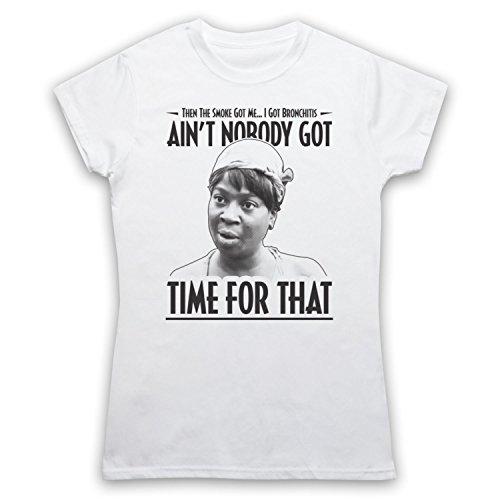 Sweet Brown Ain't Nobody Got Time For That Damen T-Shirt Weis