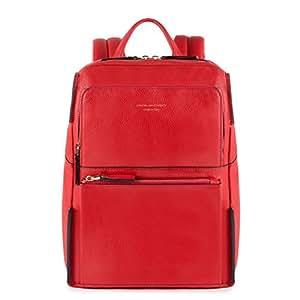 Piquadro zaino collezione sirio pelle rosso 34 cm for Piquadro amazon
