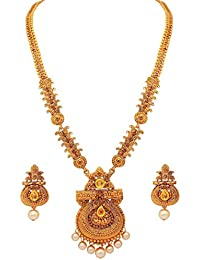 Shining Diva Fashion Latest Long Design Necklace Set for Women Traditional Jewellery Set for Women