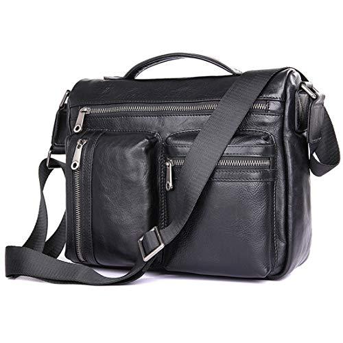 """Xasclnis Multifunktions Mann Schulter Messenger Bag Laptop-Tasche für 9,7""""Tablet PC (Color : Black)"""