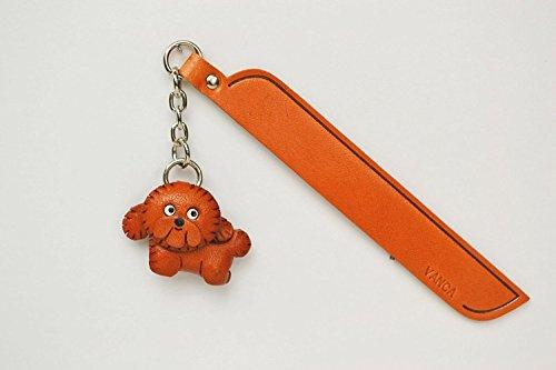 Bichon Frisé Leder Hund Charm Lesezeichen Vanca handgefertigt in Japan... -