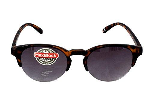 Foster Grant SOHO TORT FG94 Damen Katze Stil Abgerundeten Linsen Sonnenbrillen Braun Kunststoff Rahmen Gradient Semi Rimless Linsen 100% UV Schutz CAT 2