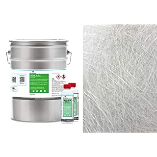 10kg GFK Polyesterharz + 10m² Glasfasermatte 300g/m²