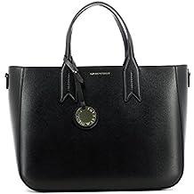 774ef1bb4ac9 Emporio Armani Frida Noir texturé Tote Bag