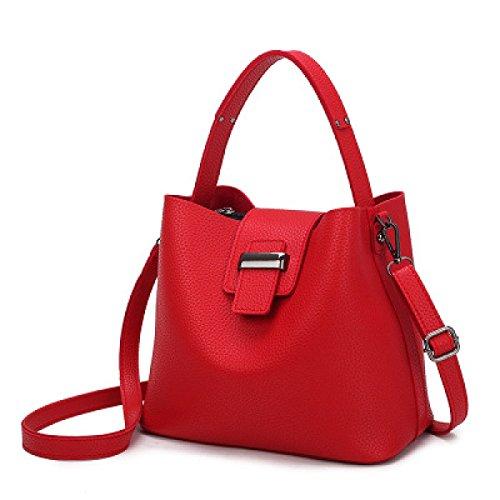 Ladies Europa E Stati Uniti Moda Portatile Spalla Diagonale Pacchetto Red