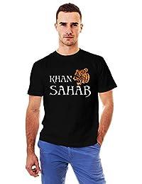 bbb012b4 UNIPLANET STORE Khan Sahab Round Neck Black T-Shirt | Khan T Shirts | t