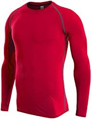 e7592be53 Camiseta De Compresiòn Camiseta Térmica Interior Hombre Manga Larga para  Running Fitness Entrenamiento