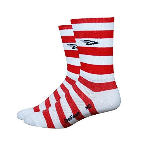 defeet-aireator-5-d-logo-striper-double-cuff-red-white-l-43-455