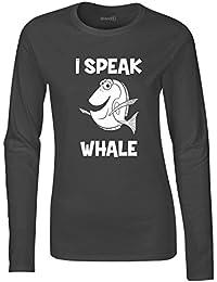 Brand88, I Speak Whale, Ladies softstyle long sleeve teeshirt
