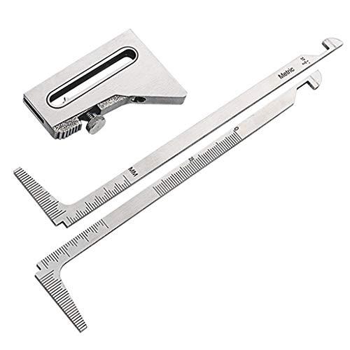 HCFKJ Große Schweißnähte mit hoher und niedriger Stärke Falscher Rand Falsches Maßband Schweißmessgerät (Silver)