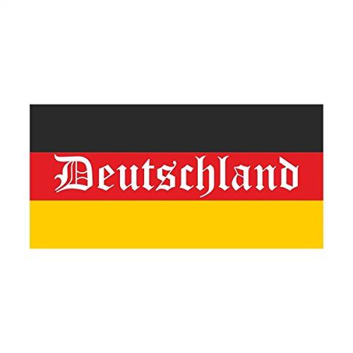 Wandtattoo Wandsticker Fussball Deutschland Meisterschaft Europameisterschaft EM Flagge Deutschland (70x34cm) Wandaufkleber Wandsticker Wanddeko Germany EM029