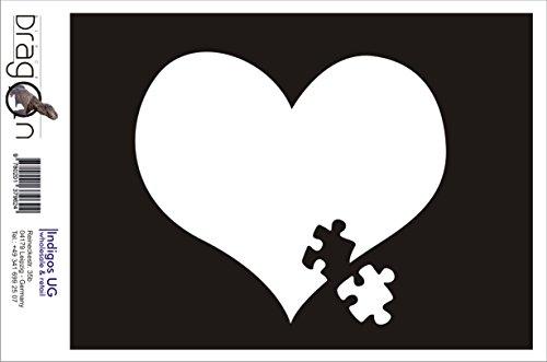 T-Shirt Herren - Autism Awareness Heart Puzzle Weiß