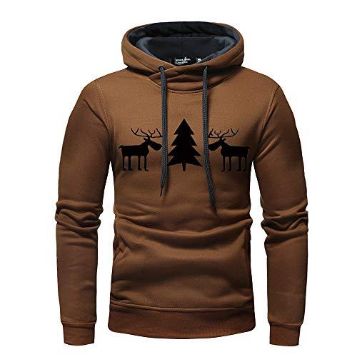 Männer Hoodie VENMO Herren Kapuzenpullover 3D Druck Weihnachten Sweatshirt Pullover Lässiger Langarm Tops Jumper Pulli Kapuzenpulli Outwear