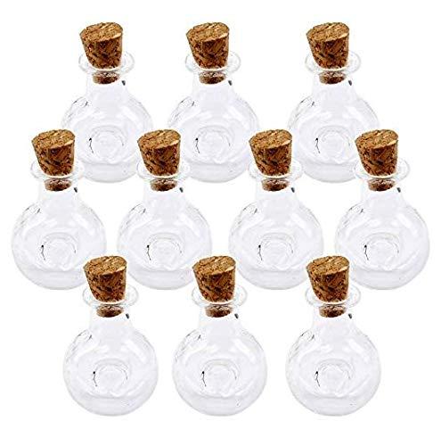 10Pcs Mini Tiny Clear Gläsern Flaschen mit Kork Wish Note für DIY Art Craft Project Party Decor Haushaltsgegenstände (Diy Craft Projects)