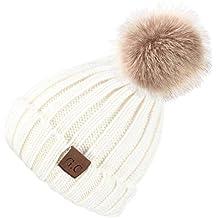 VAMEI 1pcs Sombreros de Invierno para bebé Gorros de Punto Gorro de  Invierno para bebé 9677d0e5152