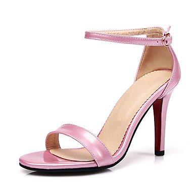 CH&TOU Da donna-Sandali-Casual Serata e festaA stiletto-PU (Poliuretano)-Nero Rosa Rosso black