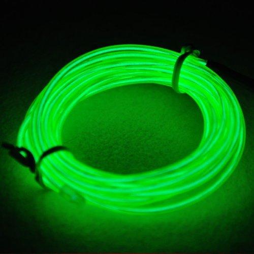 Lysignal Wasserdicht Flexibel 5M 15 FT Neon Beleuchtung Lichtschlauch Leuchtschnur EL Kabel Wire mit 3 Modis für Disco Party Kinder Halloween Kostüm Kleidung (Kostüme Mode 80)