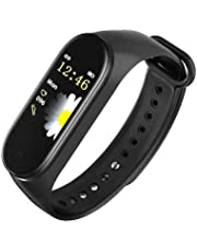 SBA999 CM4 Bluetooth Wireless Smart Fitness Band for Boys/Men/Kids/Women   Sports Watch Compatible with Xiaomi, Oppo, Vivo Mobile Phone   Heart Rate and BP Monitor, Calories Counter