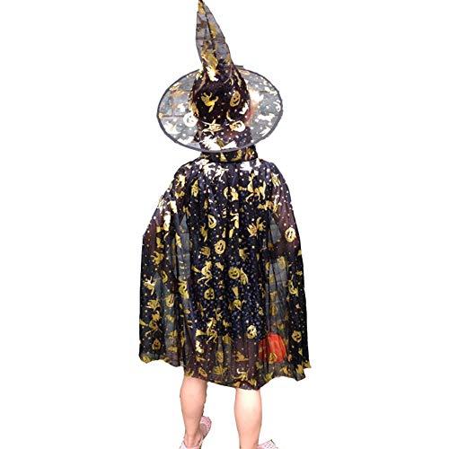 Jester Kostüm Jungen - Kinder Halloween Party Kostüme, Weihnachtsmantel Magie Kostüm Kinder Performance Mantel Hexe Kostüm, Kostüm Cosplay Kostüm Jungen/Mädchen (Schwarz)