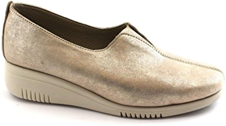 GRUNLAND GRÜNLAND Sira SC3763 Platino Oro Mujer Zapatos de Color Beige zeppetta Elástica