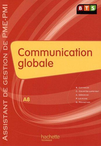 Communication globale BTS : A8 Assistant de gestion de PME-PMI