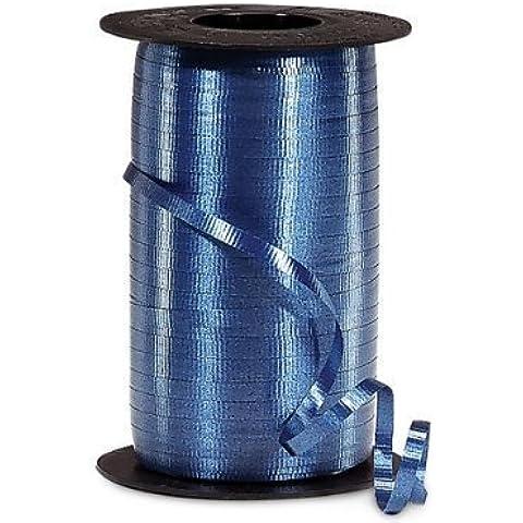 Navy Blue Crimped Curling Ribbon 3/8 X 250 Yards Pkg/1 by PMU