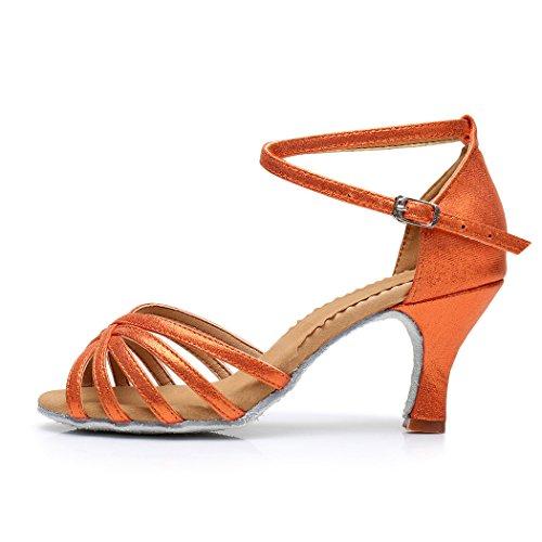 Vesi - Donna Scarpe da Ballo Latino/Sala da Ballo/Standard Tacco 5cm/7cm Arancia