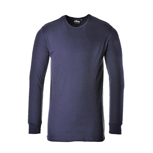 PORTWEST B123 Thermal T-Shirt Long Sleeve Sky Blue B123SB-RS Marine