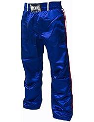 Metal Boxe - Pantalon de full contact (Bleu, 170)