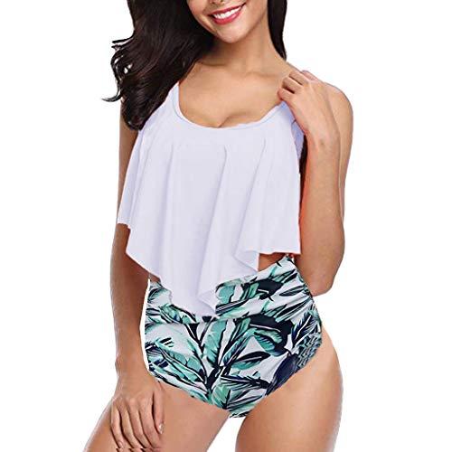MORETIME Frauen hohe Taille Bikinis Bademode Badeanzug weibliche Retro Beachwear Bikini Set,Seaside Badeanzug Mode Beachwear Surfen Strandkleidung